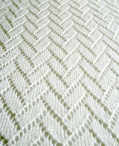 Whit's Knits: Bamboo Wedding Shawl - Knitting Crochet Sewing Crafts Patterns and Ideas! - the purl bee