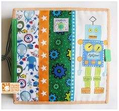 Rukodelki Red / orange crafts: Notebooks for the boy. Fabric book for boy