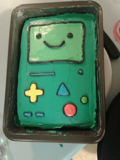 BMO cake! For a friend's tattoo guy's birthday...right before he did her bmo tattoo!