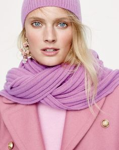 """J.Crew women's colorful cashmere. Because homemade gifts are great and all. But you can't really """"home make"""" cashmere. J Crew Outfits, Preppy Outfits, Fashion Outfits, J Crew Looks, Preppy Style Winter, J Crew Style, Autumn Winter Fashion, Fall Fashion, Preppy Fashion"""