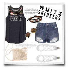 """""""whire sneakers (N°81 '16)"""" by ximenita ❤ liked on Polyvore featuring Topshop, Billabong and Bling Jewelry"""