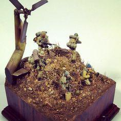 """LA COLINA 3234"" 1/35 diorama. Modeler Antonio Velázquez #scalemodel #plastimodelismo #miniatura #plastickits #usinadoskits #udk #war #guerra #guerre #afghanistan #bataille #hobby #miniatur #miniature #maqueta #maquette #scalemodelkit"