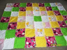 rag quilt for a baby girl....