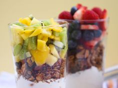 Parfaits for my new shooter glasses!  Great brunch app idea.