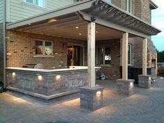 pergola and outdoor kitchen builder