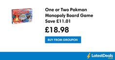 Pokemon Monopoly Board Game Save £11.01, £18.98 at Groupon