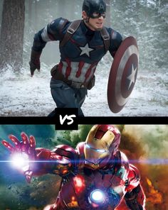 Captain America vs iron man. Comment who you think would win and why. (All rights go to the original owners)