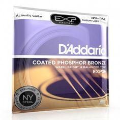 D'Addario Coated Phosphor Bronze EXP26 custom Light