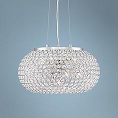 """Possini Euro Marion 18 1/4"""" Wide Crystal Bead Pendant Light"""