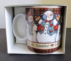 Lang and Wise Collector Mugs Let It Snow by Susan Winget Cup Mug 1997