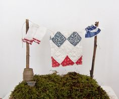 Fairy Garden Miniature Clothesline Gnome by GreenbriarCreations, $17.95