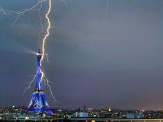 Amazing scene of Eiffel Tower.