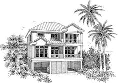 Coastal House Plans - #ALP-02RP allplans.com