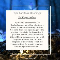 Set Expectations. Taken from the #blog post, Tips For Book Openings. #wednesdaywisdom #writers #writingcommunity #writingtruths #writingtips #writersofinstagram #authorsofinstagram #writerscafe #writingproblems #writingadvice Writing Problems, Wednesday Wisdom, Writing Advice, Your Story, Sentences, Writers, Good Books, The Book, Author