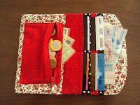 artesanato passo a passo: carteiras de tecido
