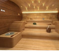 sauna with style, freshness and super clean, no burning spots Saunas, Spa Design, House Design, Home Spa Room, Spa Rooms, Sauna Steam Room, Sauna Room, Easy Woodworking Ideas, Woodworking Projects Plans
