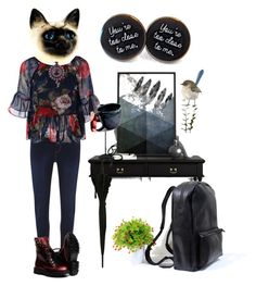 """Leave me alone..."" by cassievision on Polyvore featuring Royal Doulton and Dorothy Perkins"