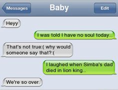 15 Epic Text Messages Between Loved Ones