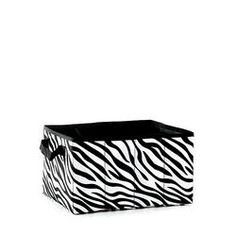 Delicieux PERSONALIZED ZEBRA STORAGE CUBE. Celebrating Home | Totes And Aprons