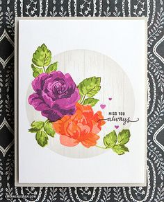 Vintage Flowers card by Kristina | Flickr - Photo Sharing!