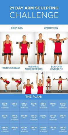 Arm Workout Challenge for Women to Lose Arm Fat If you're wondering how to lose arm fat fast?, give this 30 day arm workout challenge a go. Your arms are an important part of your body. In fact, there is no…Read more → Body Fitness, Fitness Diet, Health Fitness, Fitness Plan, Workout Fitness, Fat Workout, Mens Fitness, Arm Day Workout, Free Weight Arm Workout