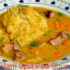 Newfoundland Style Ham and Split Pea Soup with Dough Boys -satisfying local comfort foods you can find. Nowadays, starting with the leftovers from a baked ham dinner, it's a smart, easy, tasty and economical addition to any family meal plan. Family Meal Planning, Family Meals, Newfoundland Recipes, Newfoundland Canada, Ham Dinner, Canadian Food, Canadian Recipes, Rock Recipes, Pea Soup