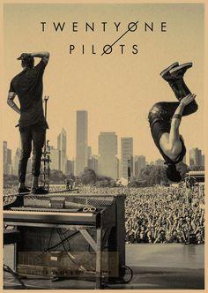 Twenty One Pilots - Retro Paper Poster Wall Sticker Group 1