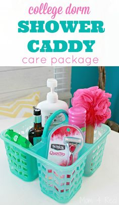 College Dorm Shower Caddy Care Package Idea #spon