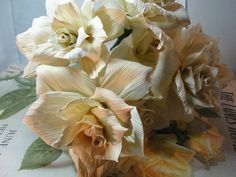 Your place to buy and sell all things handmade Paper Flowers Roses, Sola Flowers, Tissue Paper Flowers, Fake Flowers, Dried Flowers, Corn Husk Wreath, Corn Husk Crafts, Corn Husk Dolls, One Rose