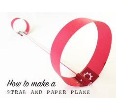This is a fun twist on the paper airplane, and I'll show you how to make a straw and paper airplanes. Airplane Activities, Airplane Kids, Airplane Crafts, Stem Activities, Activities For Kids, Preschool Crafts, Crafts For Kids, Science Crafts, Paper Aircraft