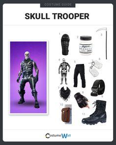 Skull Trooper Costume From Fortnite Diy Guide For Cosplay