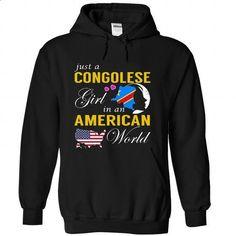 Just a Congolese Girl in an American World - custom tee shirts #tee #yellow hoodie