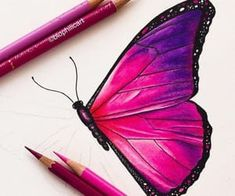 This is my pink version of a blue Morpho! - COLORING BOOK PAGES - Pink Butterfly! This is my pink version of a blue Morpho! Cool Art Drawings, Pencil Art Drawings, Bird Drawings, Realistic Drawings, Art Drawings Sketches, Colorful Drawings, Drawings Of Butterflies, Amazing Pencil Drawings, Butterfly Drawing