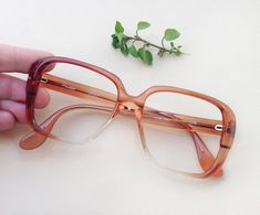4017c60672 60s squared sunglasses   translucent russet brown ombre frames   1960s mod eyewear  dead stock eye glasses   hippie hipster groovy goggles