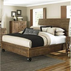Magnussen Home River Ridge Queen Headboard and Footboard Panel Bed - Wolf Furniture - Headboard & Footboard Pennsylvania, Maryland, Virginia