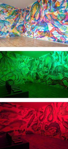 Magie visuelle parFrancesco et Silvia Rugi Quintanilla. Une exposition intéressante qui met l'accent sur la nature du spectre des couleurs et de notre cap