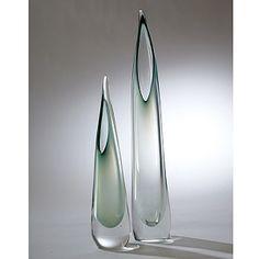 "Stalagmite Vase | Global Views Small: 4""DIA x 17.5""H Large: 4""DIA x 24.25""H  wintergreen finish"