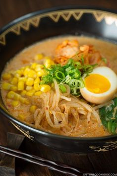 Vegetarian Ramen - Spicy Soy Milk Ramen   Easy Japanese Recipes at JustOneCookbook.com