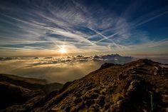 Alba, Sole, Montagna, Panorama