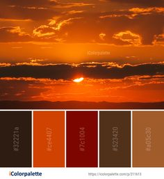 Color Palette Ideas from Sky Afterglow Red At Morning Image Orange Color Palettes, Colour Pallette, Color Combinations, Color Schemes, Red Sky At Morning, Morning Images, Ciel, Color Inspiration, Beautiful