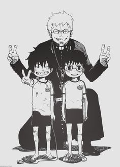 Ao no Exorcist, this is precious! :3