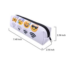 Amazon.com: Cute little Zipper Emoji Pencil Case Pouch Multifunction for Travel/School Art/cosmetic Bag (white wifi): Beauty