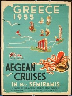 50 of the Most Beautiful Vintage Travel Posters of Greece - Greeker Than The Gre. - 50 of the Most Beautiful Vintage Travel Posters of Greece – Greeker Than The Greeks - Old Posters, Retro Poster, Poster Ads, Advertising Poster, Vintage Travel Posters, Vintage Advertisements, Vintage Ads, Photo Vintage, Cult