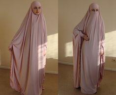 Transformer blush Khimar Maxi dress Transformer pink hijab