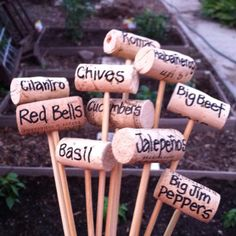 Garden markers ♥ March 2012 # Pinterest++ for iPad #