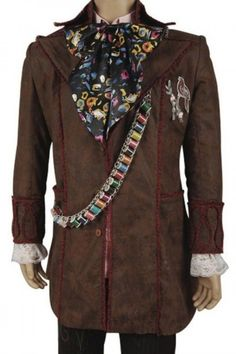 Alice In Wonderland Johnny Depp Mad Hatter Cosplay Outfit Halloween costume