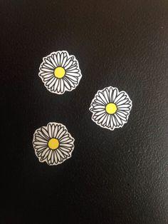 Set of 3 Daisy Stickers cute fun laptop cellphone hippie flower notebook tumblr skateboard cheap