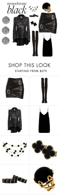 """""""Night Life"""" by meesh57 on Polyvore featuring Jitrois, Balmain, Alexander McQueen, Gold Hawk, Van Cleef & Arpels and Valentin Magro"""