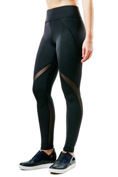 They're high performance leggings with mesh inserts that add dimension and provide ventilation. #leggings