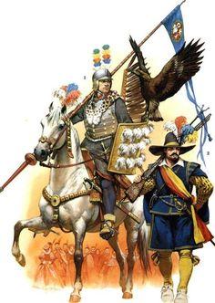 Polish hussar, Squadron Gostomski, Kraków 1605, Militia musketeer